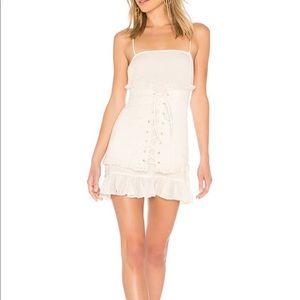 Lovers and Friends Cream Corset Ruffle Mini Dress
